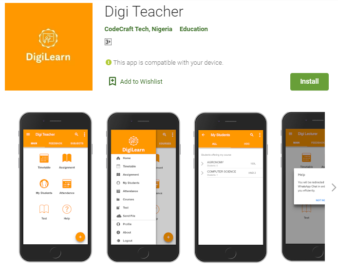 DigiLearn for Teacher